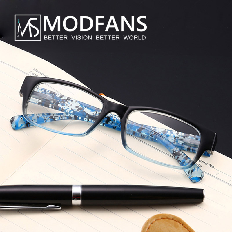 Reading Glasses Women Glasses Male Square PC Frame Clear Glass Lens Fashion Design With Diopter 1 1.5 2 2.5 3 3.5 4