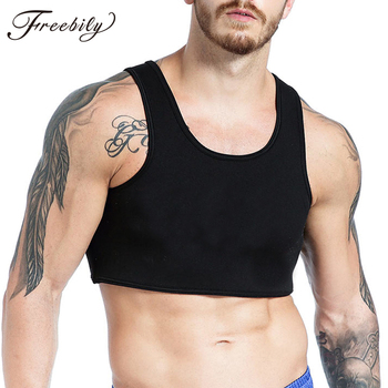 Mens Sleeveless Y Back Muscle guys sleeveless Tank Top Clubwear Stage Costume Crop Tops Performance Male Fitness Vest - discount item  27% OFF Tops & Tees
