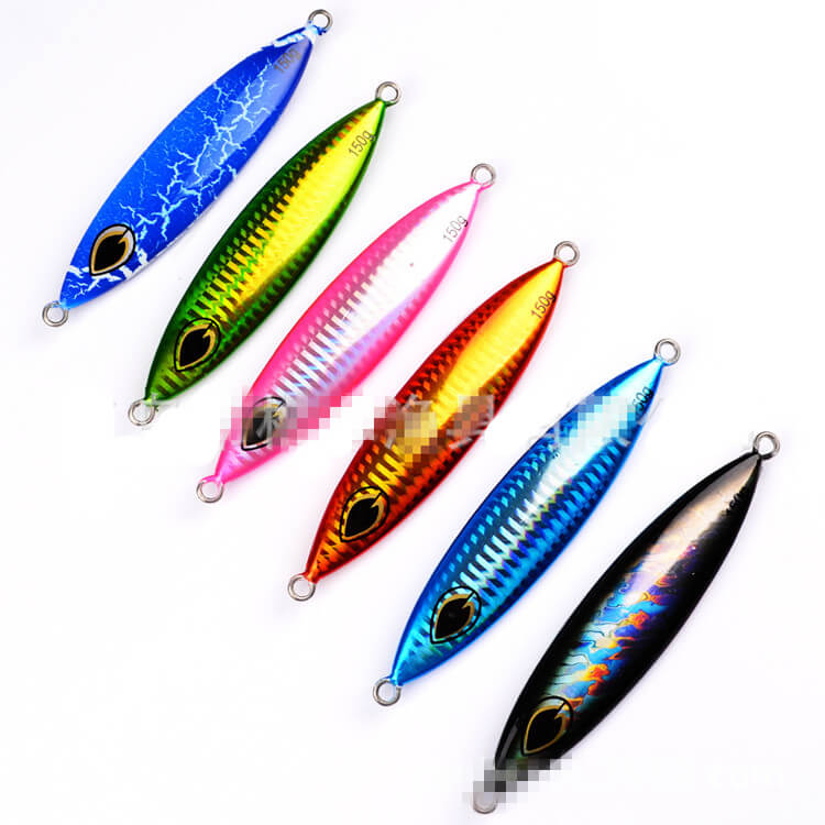 6x Micro Jigs Butterfly Slow Lures Metal Knife Jigs 150g/11.5cm Tuna Snapper Kingfish Crankbait Swimbait Saltwater Freshwater