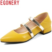 EGONERY Brand Ballet Mary Jane Wedding Woman Pumps Fashion Sweet Lolita Girls Beige Mules spring summer party med Heels shoes