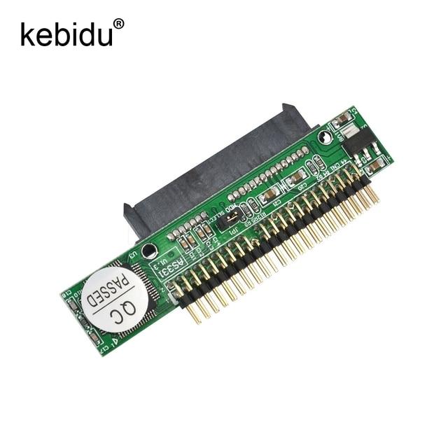 Kebidu Adaptador de disco duro SATA 1,5 hembra a IDE 2,5 macho HDD, 2,5 Gb/s, 44 Pines, para DVD, CD, PC, descontar