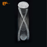 new long crystal chandelier lighting modern chandelier suspension luminare AC110 240V led staircase chandeliers