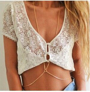 NK601 Hot New Fashion OLStreet Beat Original O Word Chain Simple One Big Chain Necklace Female Body For Women Wedding Jewelry