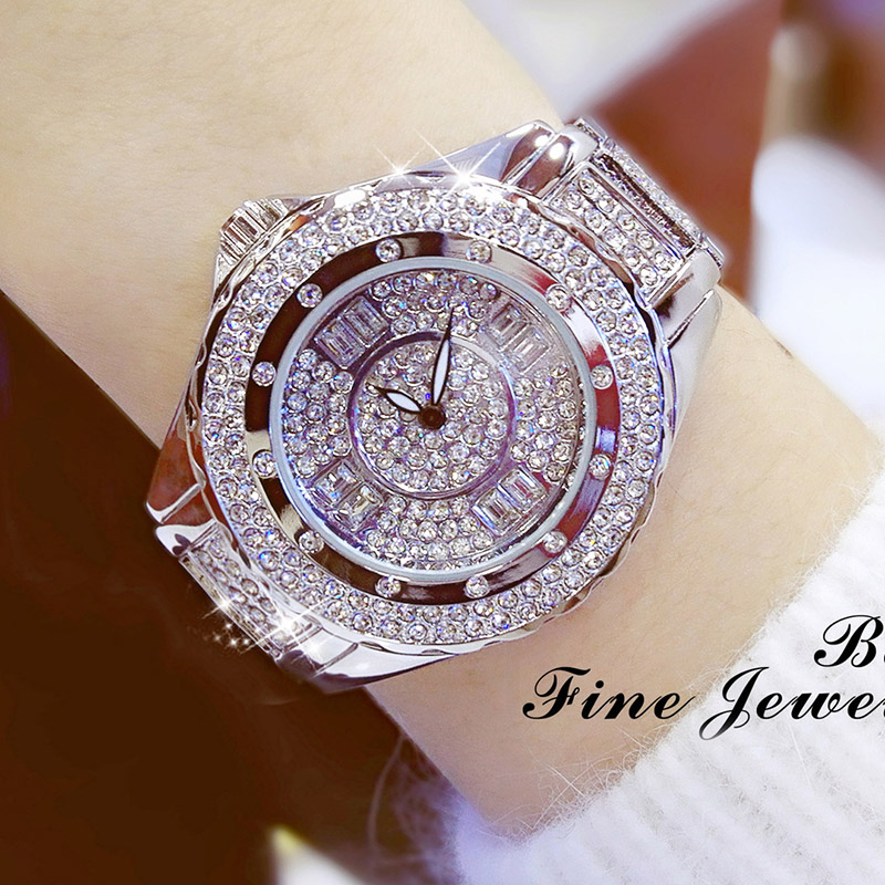 2019 New Luxury Women Watches Diamond Top Brand Elegant Dress Crystal Quartz Watches Ladies Wristwatch Relogios Femininos 2018