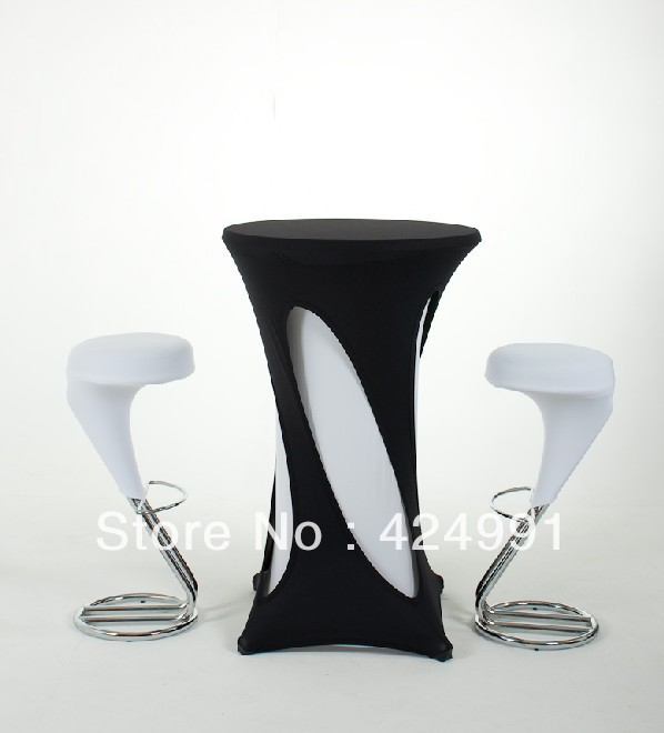 10pcs Black Hollow Lycra dry bar cover Cocktail table cover &cloth for wedding event &party decoration