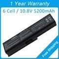 5200 mah bateria do portátil para toshiba Satellite A660D A665D C600D L537 L630 L635 PA3817U-1BRS PABAS229 PABAS118