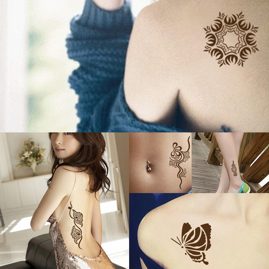 1 Piece Brown Color Henna Mehandi Cone 2017 Hot Hand Body Art Paint Makeup DIY Drawing Indian Henna Tattoo Paste Cone Waterproof in Body Paint from Beauty Health