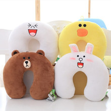 30*30cm U-shaped pillow in the plane, Neck Pillow, Comfortable U Shaped Pillow for Travel Car Airplane Office