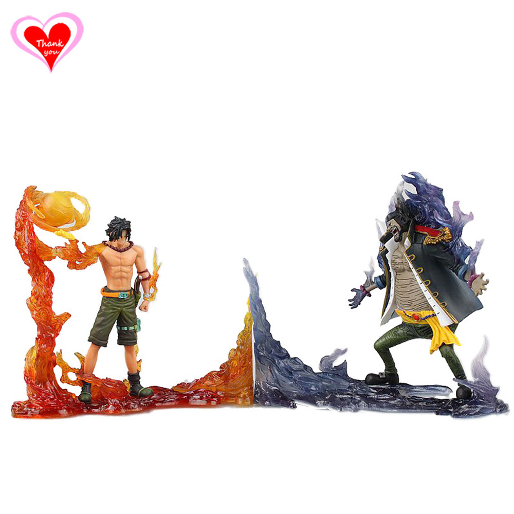 ФОТО Love Thank You One Piece Portgas D Ace Marshall D  Teach Scene PVC Figure Toy Collection Hobby NEW GIFT