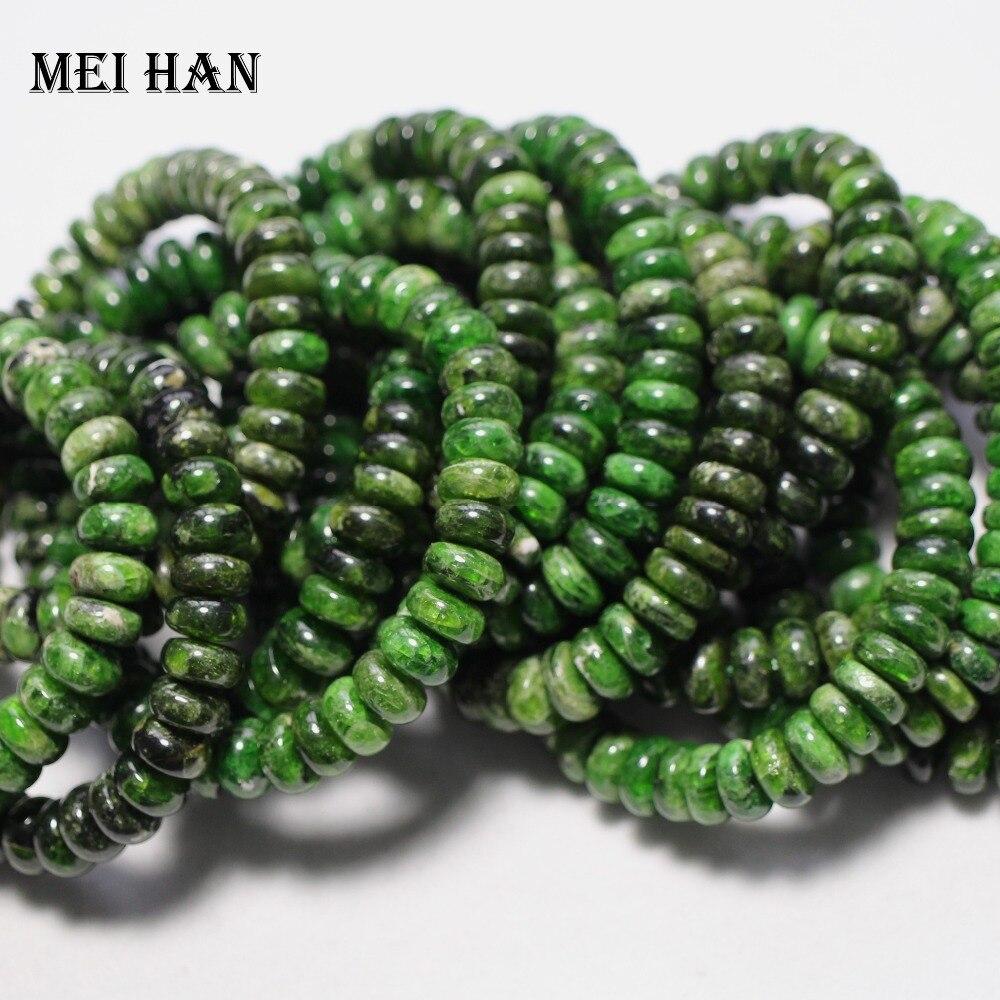 Meihan livraison gratuite (2 bracelets/ensemble) naturel 4 6*10mm Diopside lisse rondelle perles en vrac pour la fabrication de bijoux bricolage ou cadeau-in Perles from Bijoux et Accessoires    1