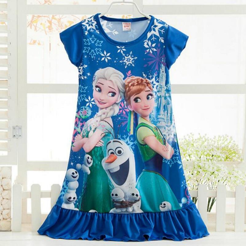 Anna Elsa Girls Dress Snow Queen Princess Dresses for Girls Night Gown Pajamas Baby Dress Kids Sleepwear Pyjamas Clothes