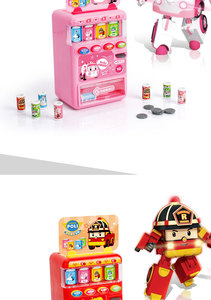 Image 5 - Robocar Poli  Child Toy Drinks Automatic Vending Machine Goods  Pretend Play House Toys Children Girls Furniture for dollhouse