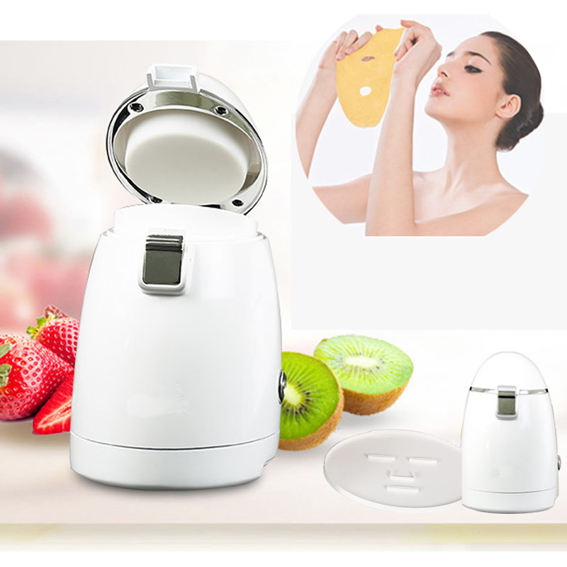 Face Mask Machine Automatic Fruit Facial Mask Maker With Natural Vegetable Fruit Material 1 set professional face care diy homemade fruit vegetable crystal collagen powder facial mask maker machine skin whitening