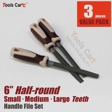 """3x266 мм(10,"""" дюйма) половина круглый напильник файлы 3 разных решетки HR6-SML"""
