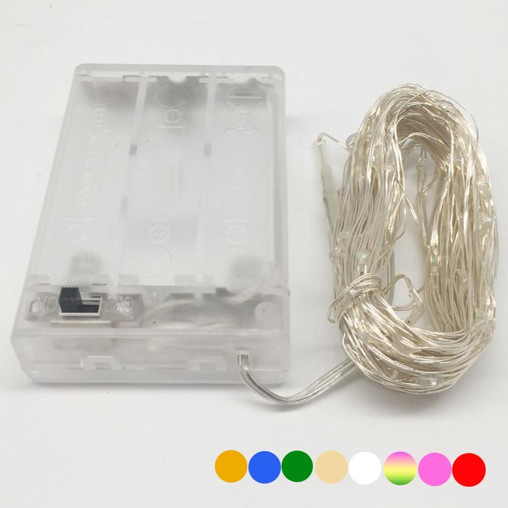 10M 5M 100 50 LED 3XAA Battery LED String Lights for Xmas Garland Party Wedding Decoration Innrech Market.com
