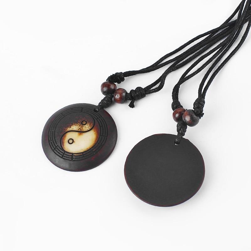 Yak Bone Yin Yang Resin Ba Gua Necklace 3