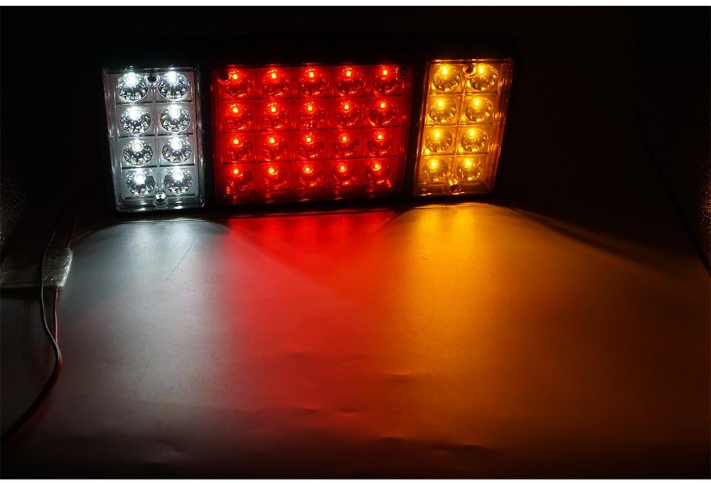 1 пара трейлер светильник светодиодный Стоп задний тормоз задние фонари поворот индиактор Грузовик Караван светодиодный verlichting 12 в 36 светод...
