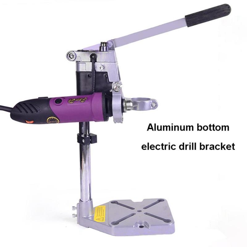 Double-head Electric Drill Excellent Aluminum Alloy Holding Holder Bracket Grinder Rack Clamp Stand Base Multi-function