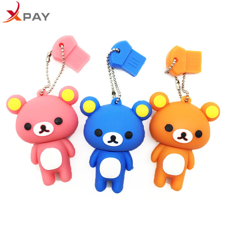 Image 5 - USB 2.0 Lovely Cartoon Bear Pendrive 128GB 64GB 32GB 16GB 8GB 4GB USB flash memory stick Pen Drive Silicone flash disk for gift-in USB Flash Drives from Computer & Office