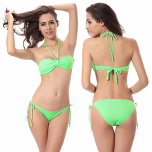 Victoria Design Removable neck Halter Butterfly Top Bandage Strappy swimsuit 2018 popular  Push up Swimwear Bikini горячие оптовые bowknotted top removable padding strappy 2016 victoria style cheap bikinis women dropshipping smlxl href