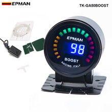 EPMAN racing 52 мм Копченый светодиодный PSI/BAR турбо Boost измеритель с датчиком для FORD MUSTANG 86-93 TK-GA50BOOST