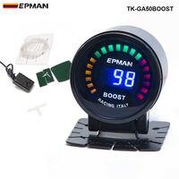 PIVOT 2015 New EPman Racing 52mm Smoked LED PSI BAR Turbo Boost Meter Gauge With Sensor