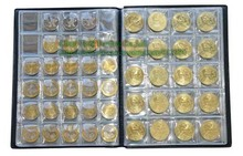 Commemorative Coin Collection Book 10 Pages 250 Units Coin Album Collection Coin Holders Multi-Color
