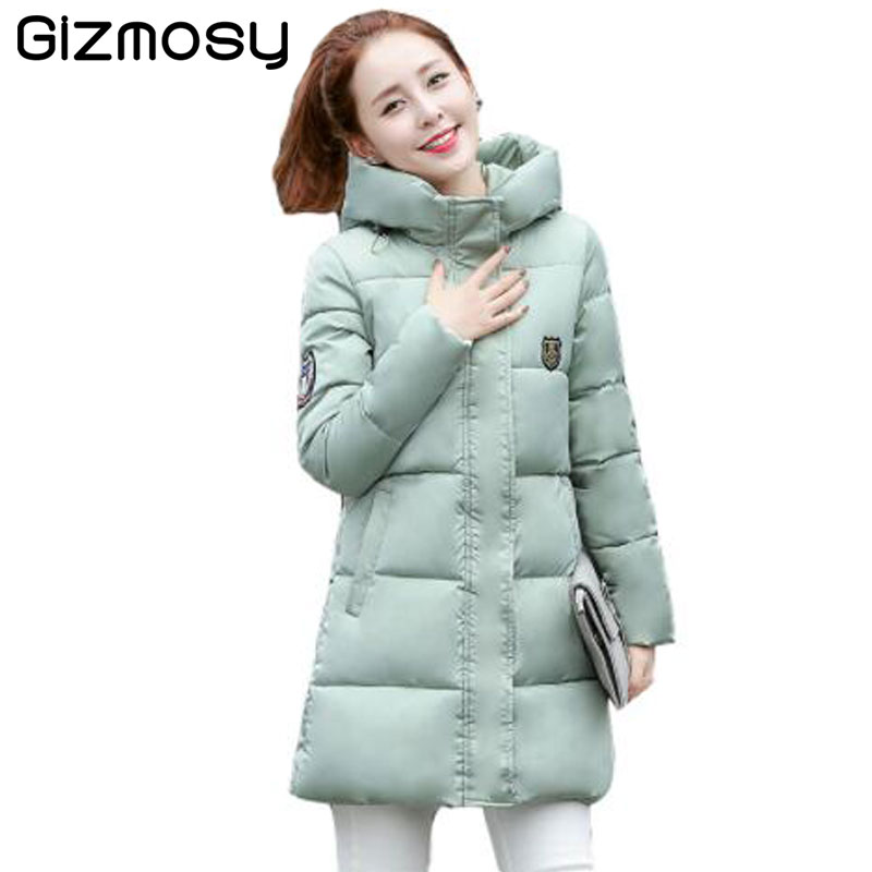 Winter Jacket Women Thick Cotton Winter Coat Womens Warm Outerwear Female  Long Hooded Parkas Plus Size Winter wear BN020 korean winter jacket women large size long coat female snow wear cotton parkas hooded thick warm coats and jackets 7 colors