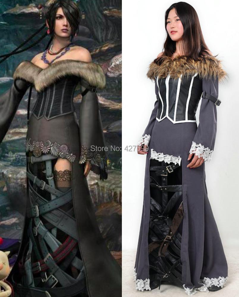 Final Fantasy X Sexy hot sale final fantasy x 10 lulu cosplay costume|lulu