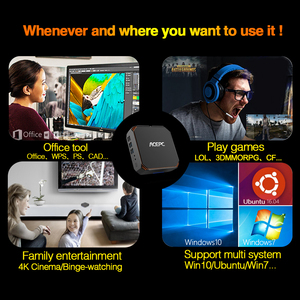 Image 5 - CK2 Intel Core Mini PC DDR4 Win10 Desktop PC Kaby Lake Core i5 7200U 7300U 2 cores 4K 4 threads 2.5GHZ Linux Windows Gaming PC