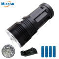 zk30 led flashlight Torch MI-9 18000 lumen 9x Cree XM-L T6 tactical Lantern torch flashlamp 4x18650 battery For Hunting Camping