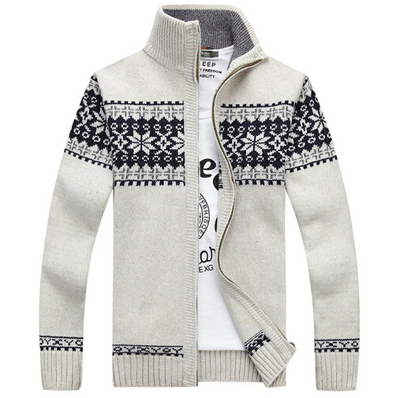 Mens Christmas Sweater.Us 29 44 50 Off Christmas Sweater Winter New Pullover Snowflake Pattern Men S Leisure Cardigan Fashion Collar Male Thickening Wool Jacket On
