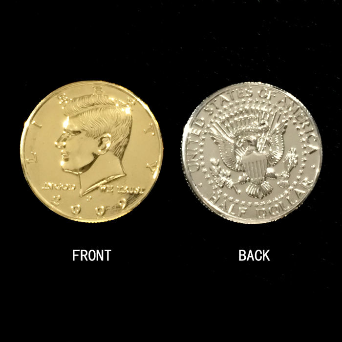 1pc Gold Silver Coin US Half Dollar  3cm/ Close-up Stage Street Magic Tricks Products Toys