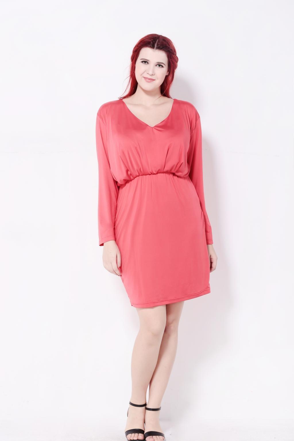 Brand Sexy Robe Deep V Neck Office Wrap Dress Elegant Autumn Long ... 1bd302793b95