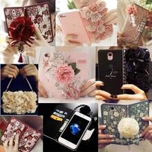 Книга Стиль 3D розы серии Бумажник Флип кожаный чехол сумка для IPhone 5 5S 6 6 S 7 плюс 8 для Huawei P9/P9 плюс