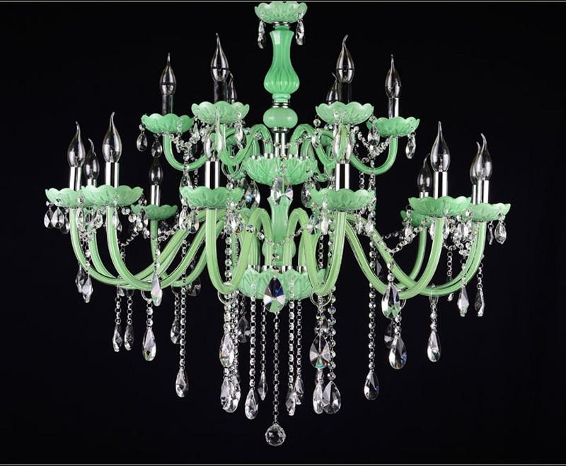 Kronleuchter Led Schwarz ~ Grün glas rohr kristall lampe kristall lüster kronleuchter led