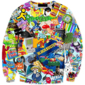 Plus Size New men/women's cartoon pullover 3d hoodies 6 Patterns Painting funny 3d off White Hoodie3XL 4XL 6XL