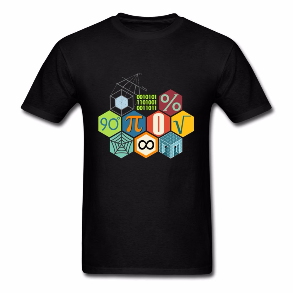 Fashion Print T Shirt O-Neck Design Short Sleeve Mens Math Pi T-Shirt Solid Teacher T Shirts