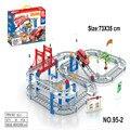 Nueva ArrivalRail coche juguete autovía Multicapa niños juguetes Thomas tren eléctrico pista de juguete Juguetes con el paquete al por menor 88 Sets De juegos de Construcción