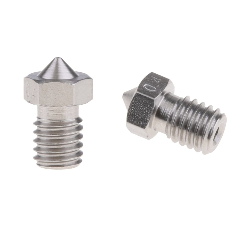 1PCS E3D Stainless Steel Nozzle V5 V6 Nozzle 0.2mm 0.3mm 0.5mm 0.4mm 0.6mm 0.8 Threaded M6 3D Printer Parts For 1.75mm Filament
