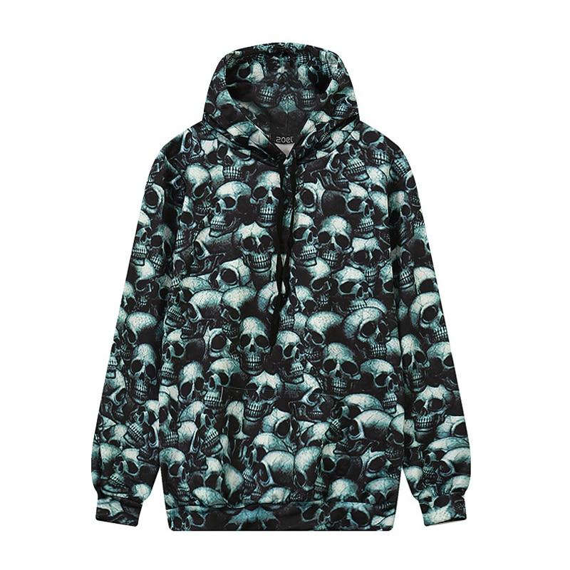 2016 Europe America Fashion Brand Hoodies For Men/Women 3D Sweatshirts Print Skulls Hooded Hoody Tracksuits
