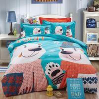 2015 de Invierno Los Niños del lecho de Impresión de dibujos animados Minions ropa de Bebé los niños ropa de cama king queen twin completo duvet cover set