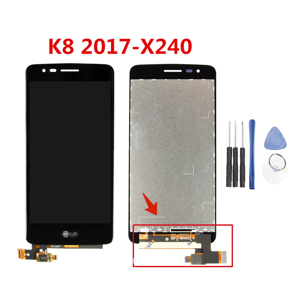 <font><b>LCD</b></font> Display Screen Digitizer Assembly for <font><b>LG</b></font> K8 2017 <font><b>X240</b></font> <font><b>LCD</b></font> Touch Screen Replacement Repair Parts With Frame High sensitivity image
