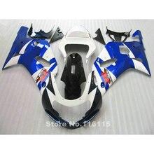 Мотоцикл обтекатель комплект подходит для SUZUKI GSXR600 GSXR750 K1 2001 2002 2003 синий белый черные обтекатели GSXR 600 750 01 02 03 A412