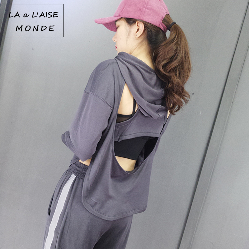Sexy Backless Yoga Shirts Sport Top Fitness Women Sports T Shirt Gym Clothing Loose Shirt Tops Workout Breathable Sportswear Tee women yoga tank tops quick dry exercise women s workout gym clothes sports t shirts fitness top women shirt sportswear