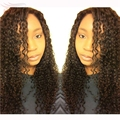 U part wigs afro kinky curly indian virgin u part wig for black women grade 10A on sale in stock middle/ left/ right part
