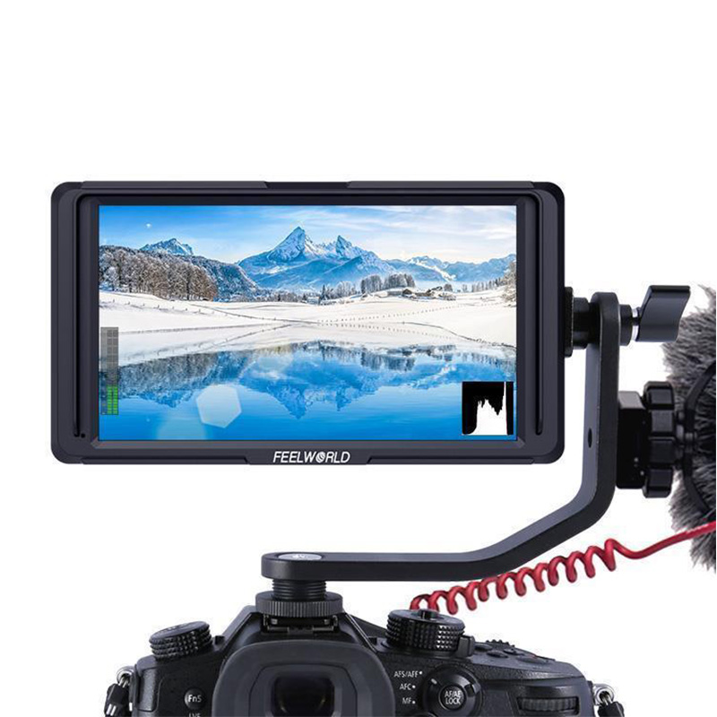 """Feelword F6S 5""""Utra Slim IPS Full HD DSLR On Camera Field Monitor 1920x1200 4K HDMI Video for Nikon Sony Canon Gimbal Smooth4"""