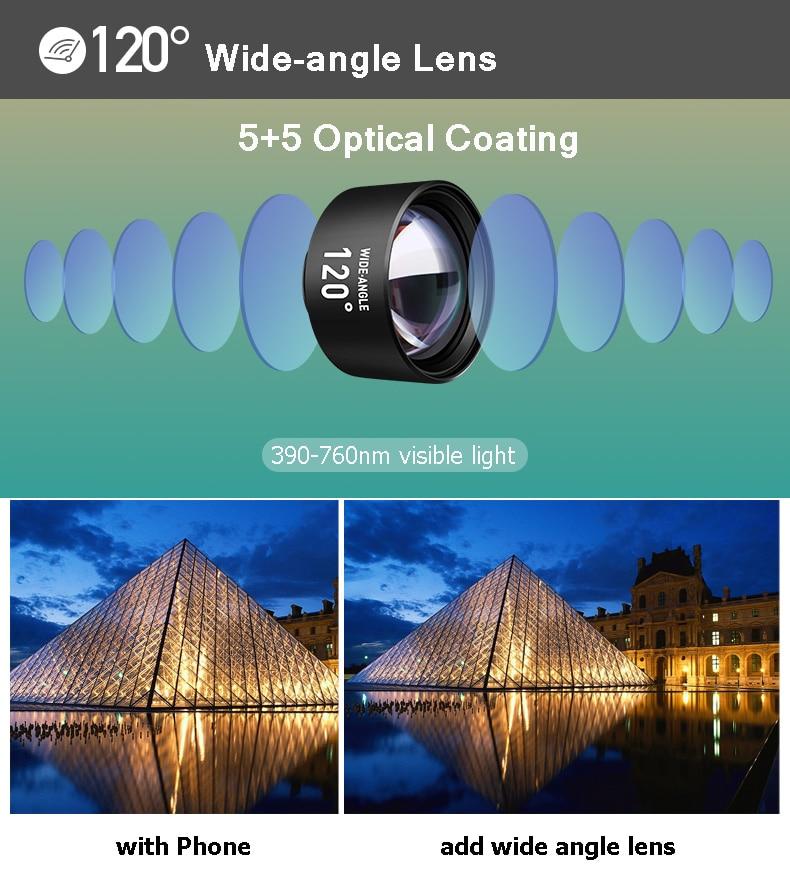 Набор объективов для камеры телефона: макрообъектив 14X телеобъектив широкоугольный объектив рыбий глаз для samsung S10 S10E S9 PLUS NOTE 9 для Xiaomi - 3