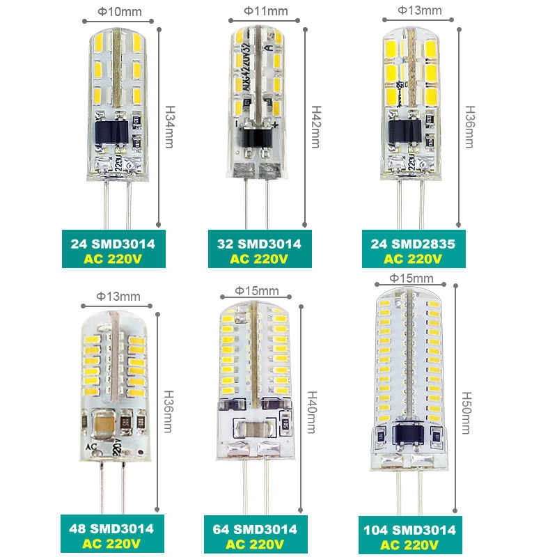 SonQin 1 قطعة صغيرة G4 led تيار مستمر 12 فولت التيار المتناوب 220 فولت SMD3014 3 واط 5 واط 9 واط 12 واط 15 واط 21 واط استبدال 10 واط-80 واط مصباح هالوجين شحن مجاني