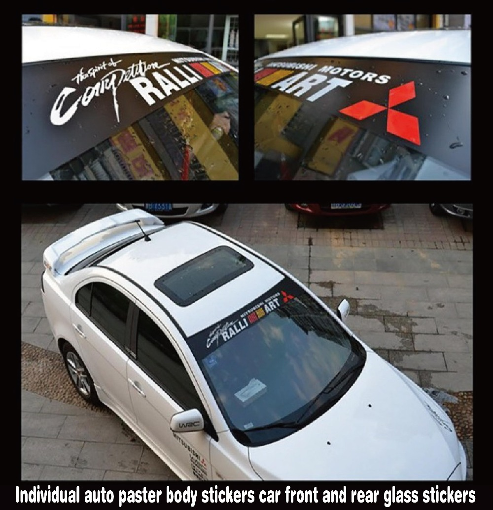 Car Front Glass Sticker Design